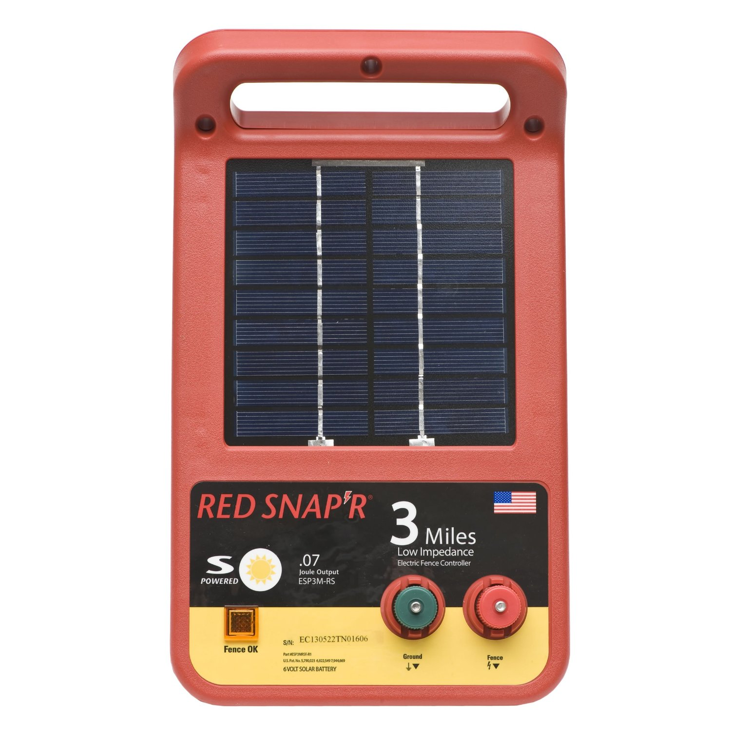 Electric Fence Control Panel : Red snap r esp m rs mile solar low impedance charger