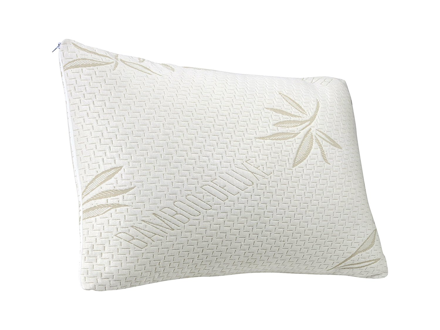Plixio Queen Deluxe Bamboo Pillow w/ Cooling Shredded Memory Foam Hypoallergenic